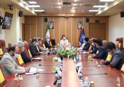 جلسه ویژه مسئولین ارشد جزیره خارگ با معاون وزیر مسکن و شهرسازی در ساختمان وزارت مسکن و شهرسازی