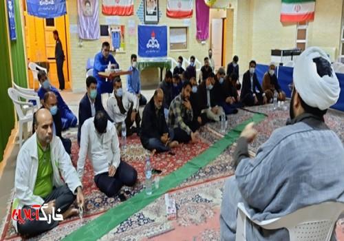 برگزاری مراسم سالگرد شهادت حضرت فاطمه زهرا (س) در منطقه عملیاتی شرکت نفت فلات قاره خارگ (کمپ زیتون)