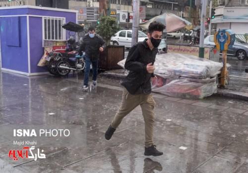 تداوم رگبار باران در کشور