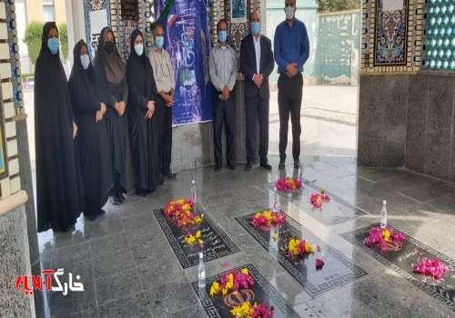 غبار روبی و عطرافشانی مزار شهدای گمنام به بمناسبت روز بزرگداشت مقام معلم