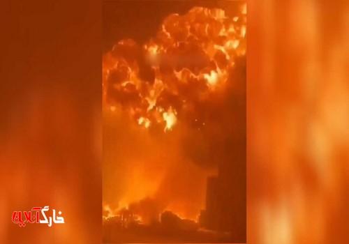 یک فستفودی در بوشهر طعمه حریق شد+فیلم