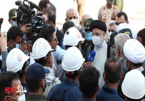 بازدید رئیسجمهور از مراحل ساخت و تکمیل شناور شهید سلیمانی