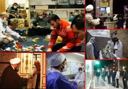 توزیع اقلام بهداشتی و مواد ضد عفونی کننده در بین مردم دشتی