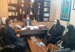 دیدار جمعی از مجریان طرح سه شنبه مهدوی خارگ با مدیر روابط عمومی عملیات عمومی پایانه های نفتی خارگ