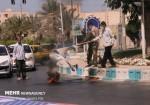 بوشهریها پرچم آمریکا و رژیم اسرائیل را به آتش کشیدند
