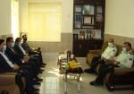 دیدار بخشدار و شورای شهر و شهرادری با فرماندهی انتظامی بخش خارگ