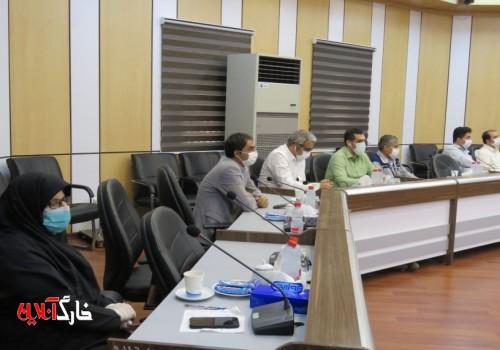 گزارش تصویری از جلسه شوراری اداری با حضور عبدالکریم جمیری نماینده مردم شریف بوشهر، گناوه، دیلم و خارگ و هیئت همراه