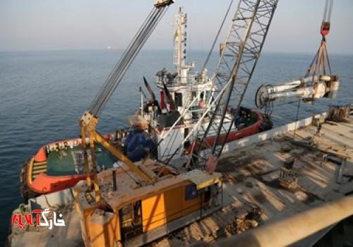عکس| تعمیر پایانه نفتی خارگ توسط متخصصین داخلی