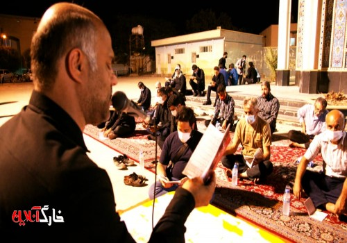 عاشورایان میزبان پرچم زیبای گنبد قمرمنیر بنی هاشم حضرت ابوالفضل العباس(ع)بودند