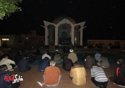 خارگ به سوگ حضرت فاطمه زهرا (س) نشست/برگزاری مراسم شام غریبان حضرت فاطمه زهرا (س) درجایجایی جزیره خارگ