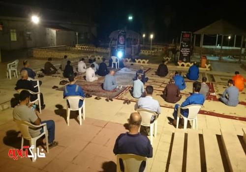 مراسم احیای اولین  شب قدر در منطقه عملیاتی فلات قاره خارگ برگزار شد