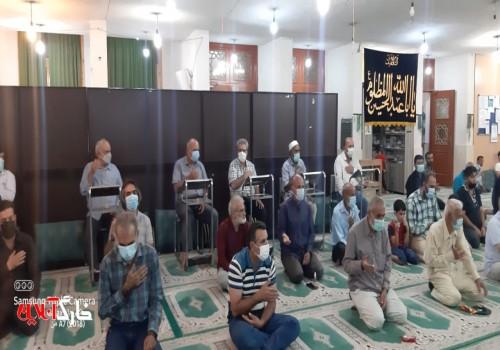 آئین سوگواری شهادت امام حسن عسکری(ع) در جزیره خارگ برگزار شد